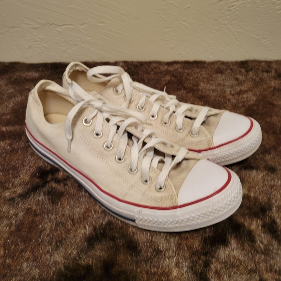 Converse white and red shoes sneakers